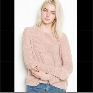 Brandy Melville Sweaters - Brandy Melville blush pink Bronx sweater